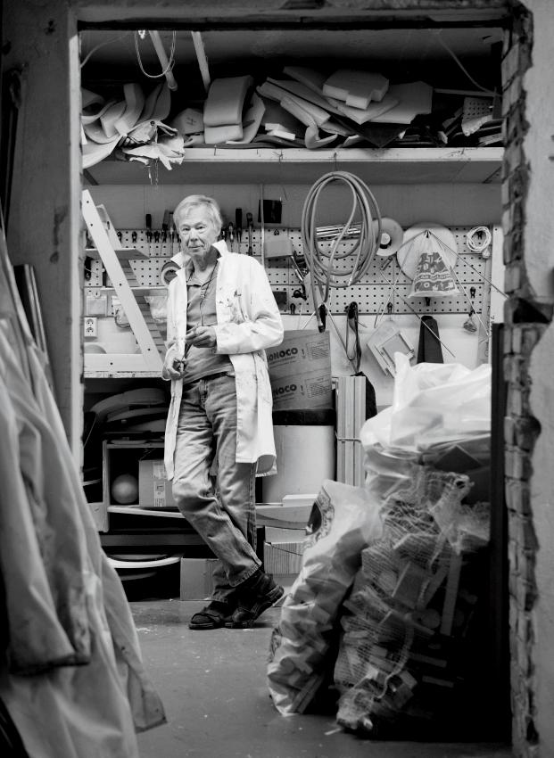 Portrait of Norwegian furniture designer Peter Opsvik in 2013