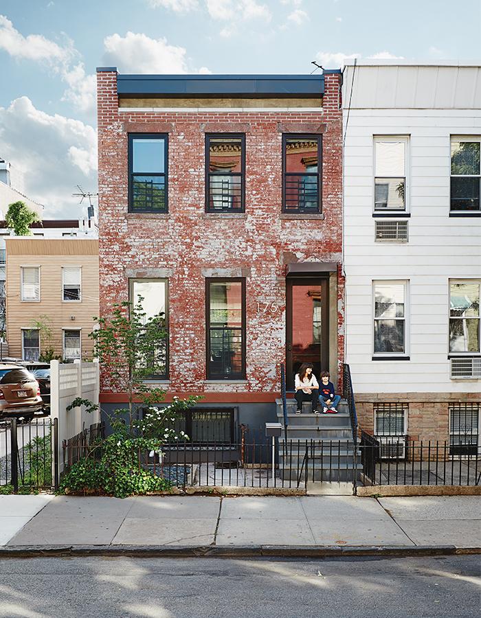Modern Brooklyn renovation street facade