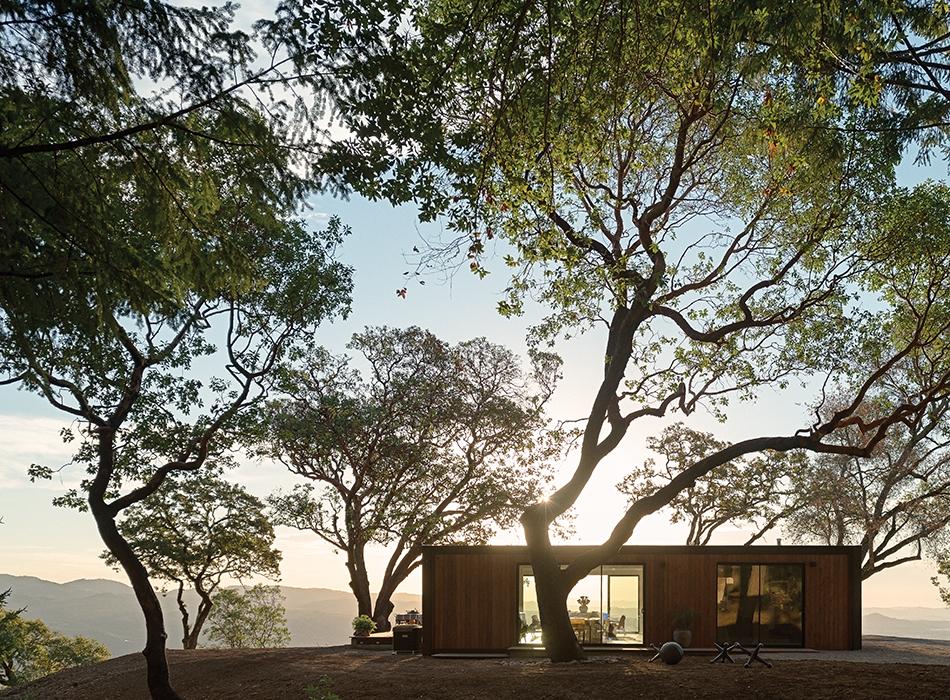 modern design prefab sunset facade outdoor connect homes