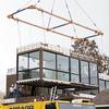 marmol radziner prefab crane on site