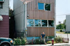 carpenter residence exterior facade portrait  crop