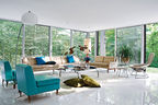 Goddard mendolene residence house interior living room with vintage furniture