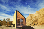 Modular wooden cabin in the California state parks