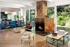 bateman los angeles living room fireplace