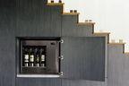 beverly hills staircase wine storage