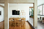 jardins party dining room hay chairs local wood floor
