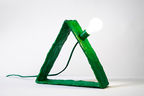 katie stout green triangle lamp