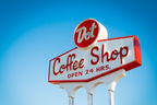 Vintage Neon Sign for Dot Coffee Shop