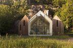 micro cluster cabins norway three unit exterior rec