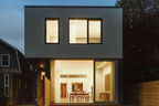 counterpoint house modern rear facade