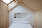 compact karset house wood gabled bed loft 0 rec