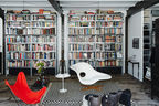 french evolution paris daniel rozensztroch living area eames la chaise butterfly chair moroccan berber rug