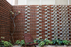 Brick wall backyard in Bangalore