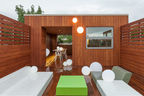 switch over chicago smart renovation penthouse deck smar green ball lamps quinze milan lounge furniture garapa hardwood