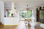 the outer limits paris prefab home living area vertigo lamp constance guisset gijs bakker strip tablemetal panels