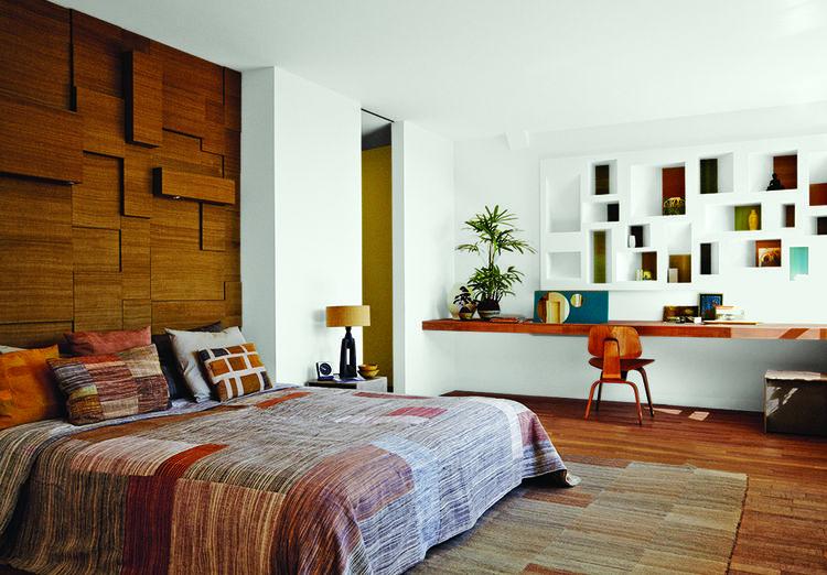 modern netherlands 13 noordeinde schoolhouse master bedroom indian silk headboard