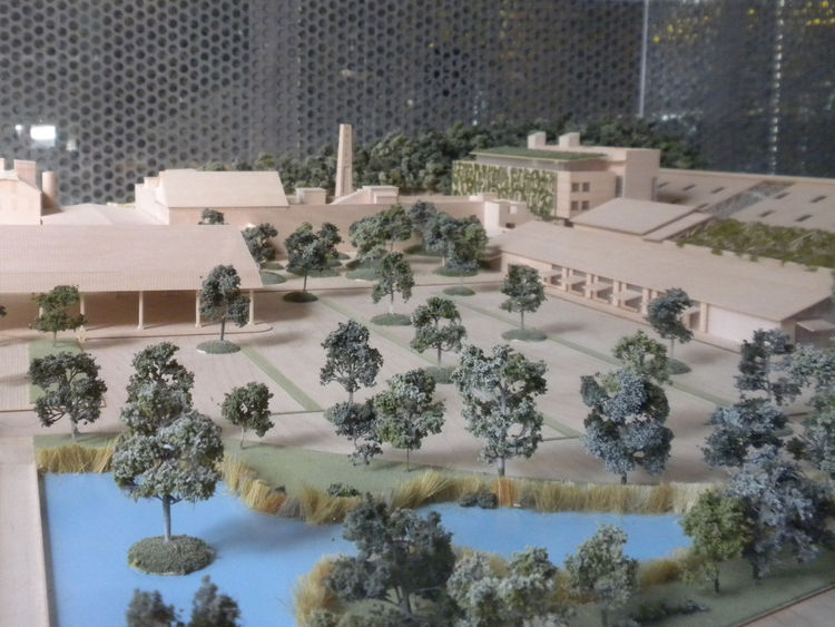 A model inside the Welcome Center shows the site, which had its grand opening in September 2010.