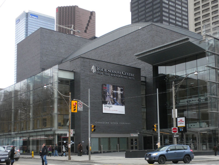 """Finally, I headed to the <a href=""""http://www.coc.ca/AboutTheCOC/FourSeasonsCentre.aspx"""">Four Seasons Center for the Performing Arts</a>, home to the Canadian Opera Company and performance venue of the National Ballet of Canada. Completed in 2006, the cent"""