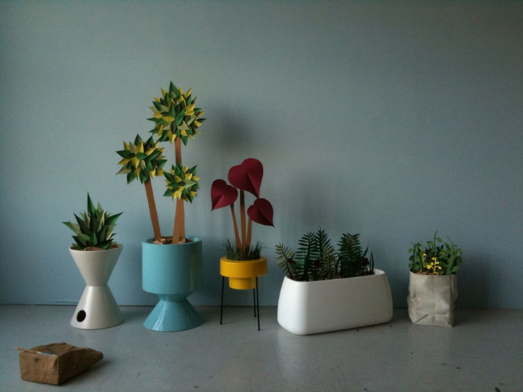 A handful of the almost-finished planters from our prep day.