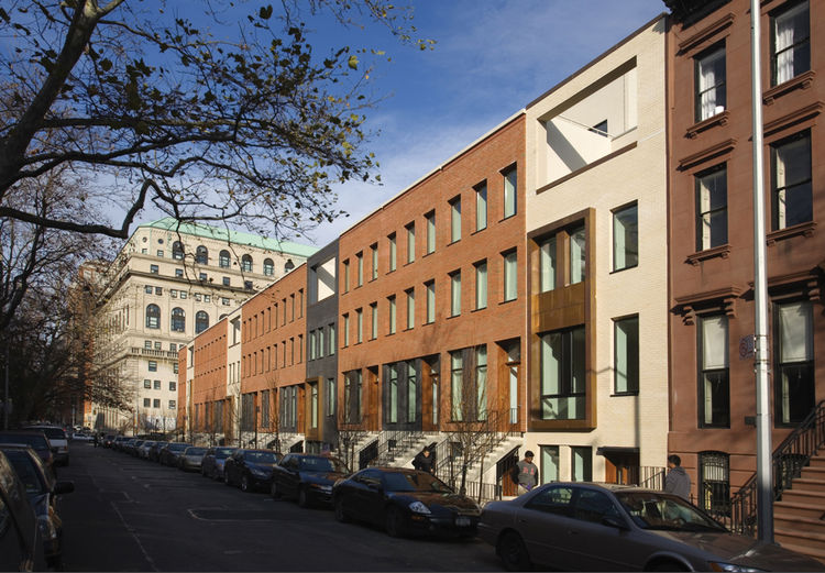 """The 14 Townhouses in Brooklyn, New York, designed by Rogers Marvel Architects, was awarded an AIA 2010 One- and Two-Family Production Housing prize for """"excellent design of homes built for the speculative market."""""""