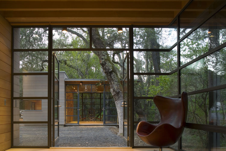 """The Dry Creek Outbuildings in Woodside, California, designed by Bohlin Cywinski Jackson, was awarded an AIA 2010 One- and Two-Family Custom Housing prize for """"outstanding designs for custom and remodeled homes for specific client(s)."""""""