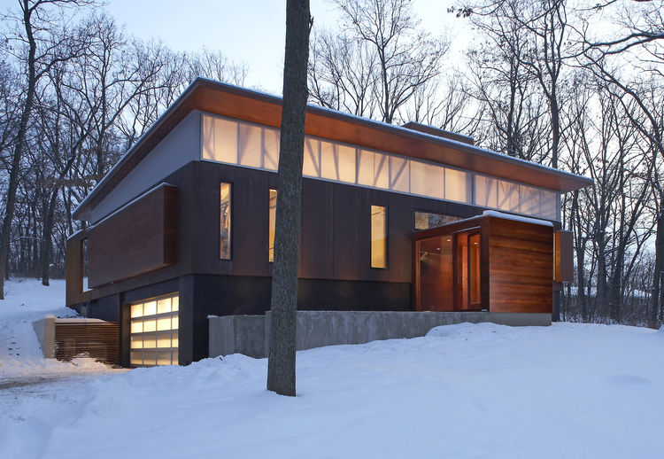 """The Ferrous House in Milwaukee, Wisconsin, designed by Johnsen Schmaling Architects, was awarded an AIA 2010 One- and Two-Family Custom Housing prize for """"outstanding designs for custom and remodeled homes for specific client(s)."""""""