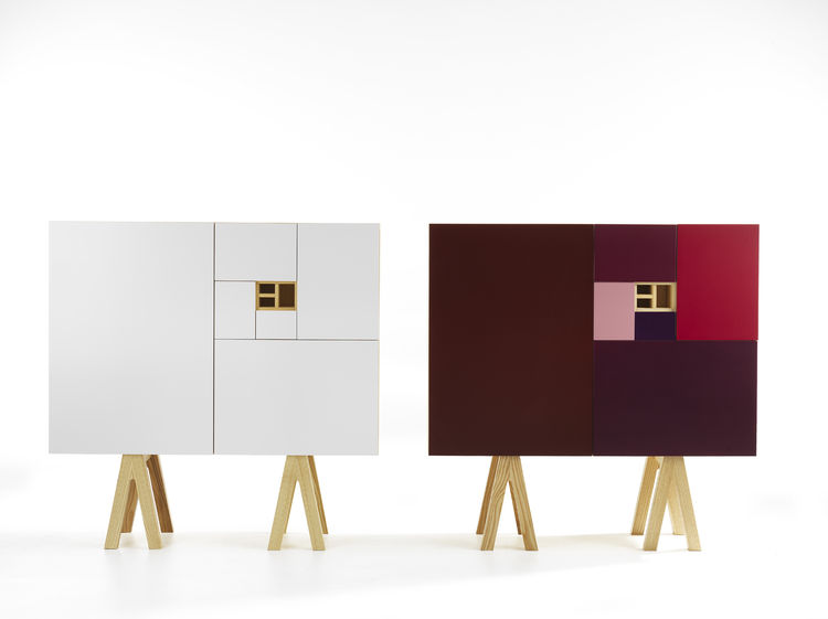 "Jesper Ståhl designed this sideboard for <a href=""http://www.abstracta.se/web/Home.aspx"">Abstracta</a>. The ratios of the doors are all based on the module of an A4 piece of paper. This year, the company launched a new plum iteration, though I prefer the"