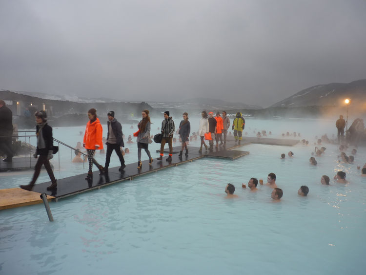 In what was the certainly the most surreal—and coldest—fashion show on earth, Iceland's 66 North showed off their latest line of outerwear at Blue Lagoon, a geothermal-heated spa and swimming hole located about an hour from downtown Reykjavik. Throngs of