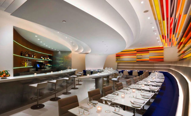 "<b><a href=""http://www.thewrightrestaurant.com/home/default.asp"" target=""_blank"">THE WRIGHT AT THE GUGGENHEIM MUSEUM</a></b> Restaurant designed by <a href=""http://www.akarch.com/"" target=""_blank"">Andre Kikoski Architect</a> <br /><br />  Nestled into a c"