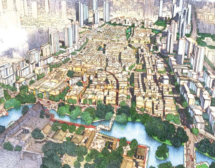 Foshan Donghuali Master Plan by Skidmore, Owings & Merrill Honor Award for Urban Design