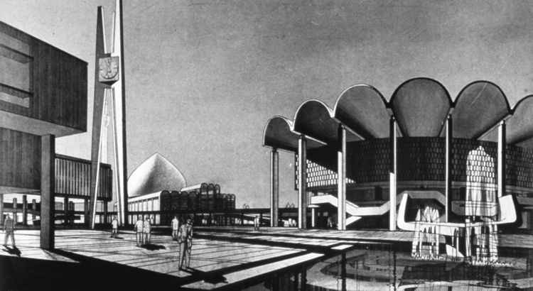 The two biggest contributions were Walter Gropius's University of Baghdad masterplan which now serves 30,000 students in 273 buildings, including Baghdad's only skyscraper, clocking in at 20 stories. The other is an idealistic 1958 plan by Constantinos Do