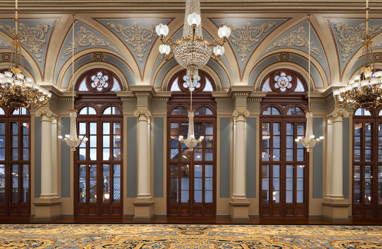 """The Academy of Music in Philadelphia, Pennsylvania. Designed by KlingStubbins. Winner of the 2011 Institute Honor Award for Interior Architecture. Project description: """"The beaux arts style opera house owned by The Philadelphia Orchestra is landmarked and"""