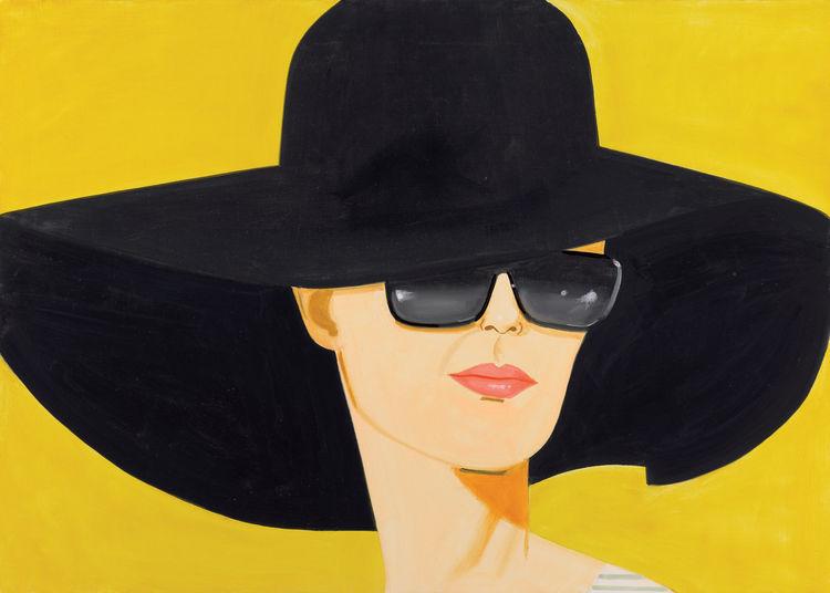 <i>Black Hat</i> (Bettina), 2010, Oil on linen, 152.4 x 213.4 cm, Private Collection, London, © Alex Katz/Licensed by VAGA, New York, NY, Image courtesy Galerie Thaddaeus Ropac, Paris - Salzburg.