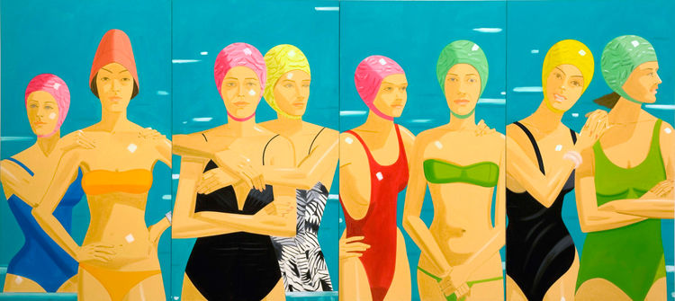 <i>Eleuthera</i>, 1984, Oil on linen, 305 x 670.5 cm, Private Collection, Courtesy Galería Javier López, Madrid, © Alex Katz/Licensed by VAGA, New York, NY.