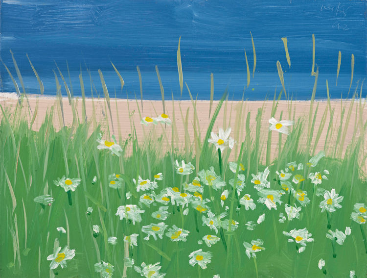 <i>Ocean View</i>, 1992, Oil on board, 23.1 x 32 cm, © Alex Katz/Licensed by VAGA, New York, NY, ARTIST ROOMS Acquired jointly with the National Galleries of Scotland through The d'Offay Donation with assistance from the National Heritage Memorial Fund an