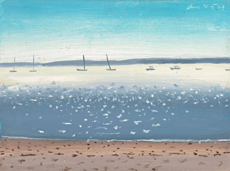 <i>Penobscot</i>, 1999, Oil on board, 229 x 305 cm, © Alex Katz/Licensed by VAGA, New York, NY, ARTIST ROOMS Acquired jointly with the National Galleries of Scotland through The d'Offay Donation with assistance from the National Heritage Memorial Fund and