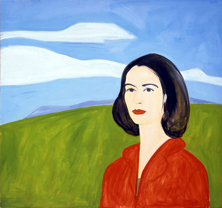 <i>Red Blouse</i> (Big Ada), 1961, Oil on Linen, 193 x 208 cm, Private collection, Art ©Alex Katz/Licensed by VAGA, New York, NY, Photo: Galleria Monica De Cardenas Milano and Zuoz.