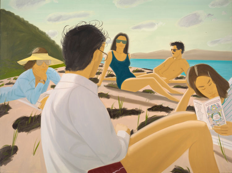 <i>Round Hill</i>, 1977, Oil on Linen, 180.3 x 243.8 cm, Los Angeles County Museum of Art, Partial and Promised Gift of Barry and Julie Smooke, Art © Alex Katz/Licensed by VAGA, New York, NY, Digital Image © 2012 Museum Associates / LACMA.