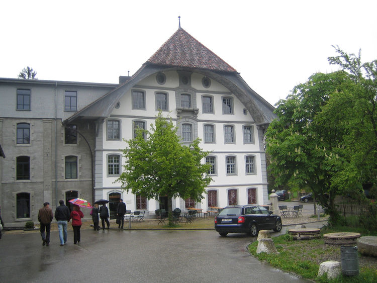 Once a mill in Langenthal, Switzerland, the Alte Müll now houses a rather swanky restaurant.