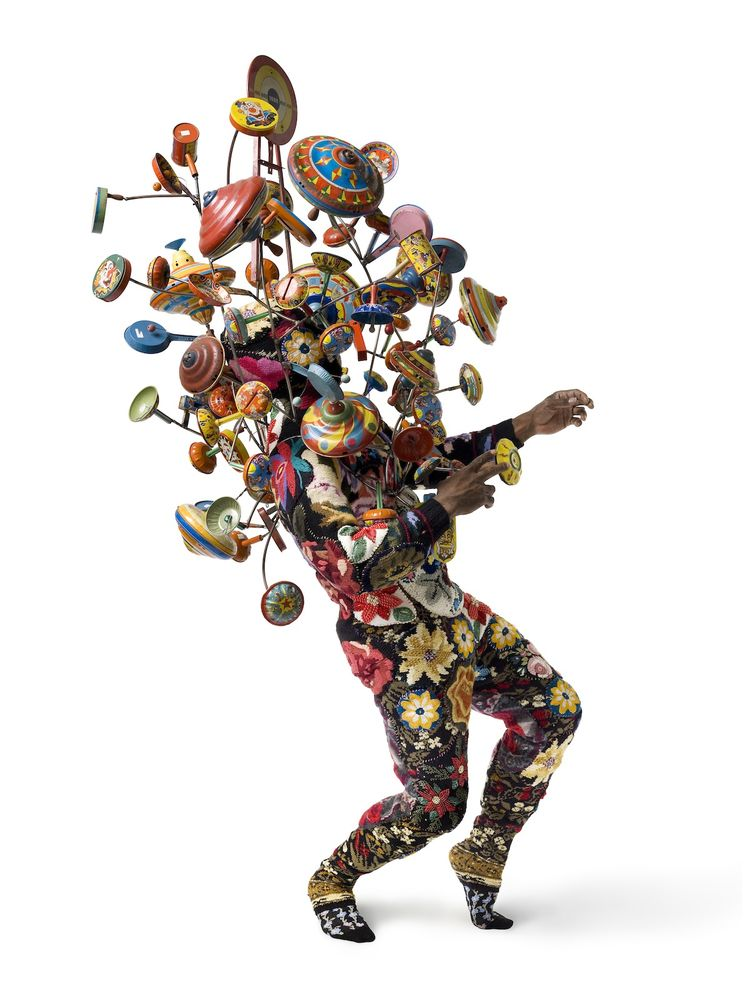 <i>Artspace Soundsuit #1</i>, by Nick Cave, one of Levene's favorite pieces currently available on the site.