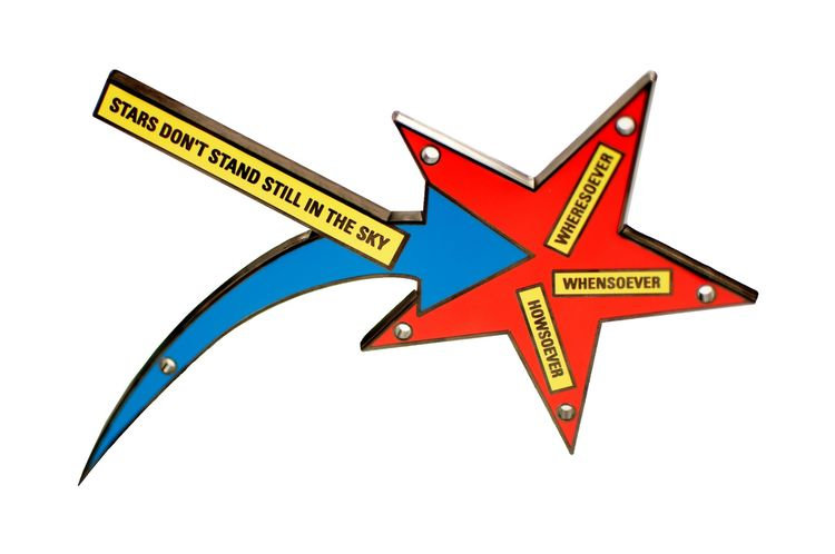 <i>Stars Don't Stand Still in the Sky</i>, by Lawrence Weiner