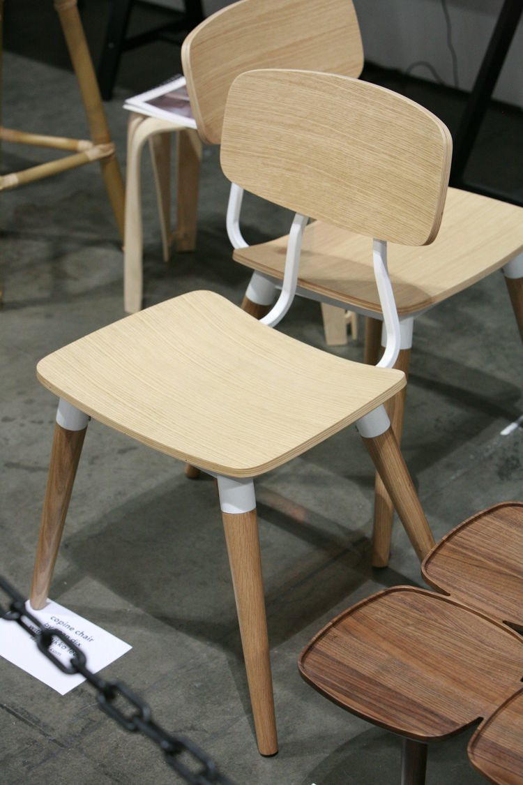 There are two pieces from the Chinese booth that I really liked, one of which is the wooden and metal Copine Chair from Sean Dix with Keikko Lee. The mix of natural and polished is quite nice, and makes me wish I'd had one of these in elementary school.