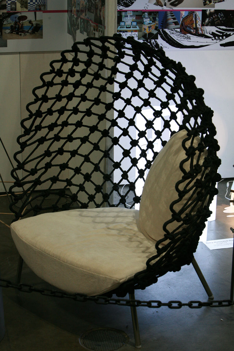 The Dragnet Lounge Chair is also by Kenneth Cobonpue. Nice stuff.