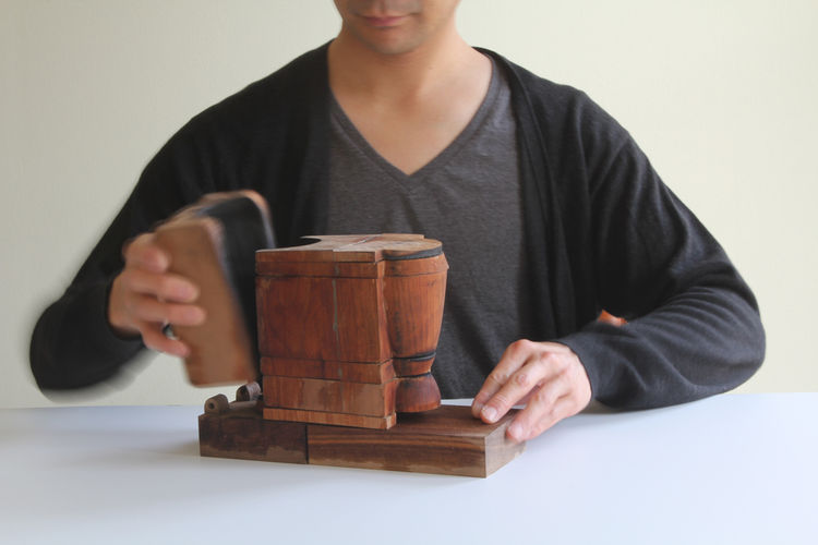 Each of the pieces was made from this cherrywood mold.