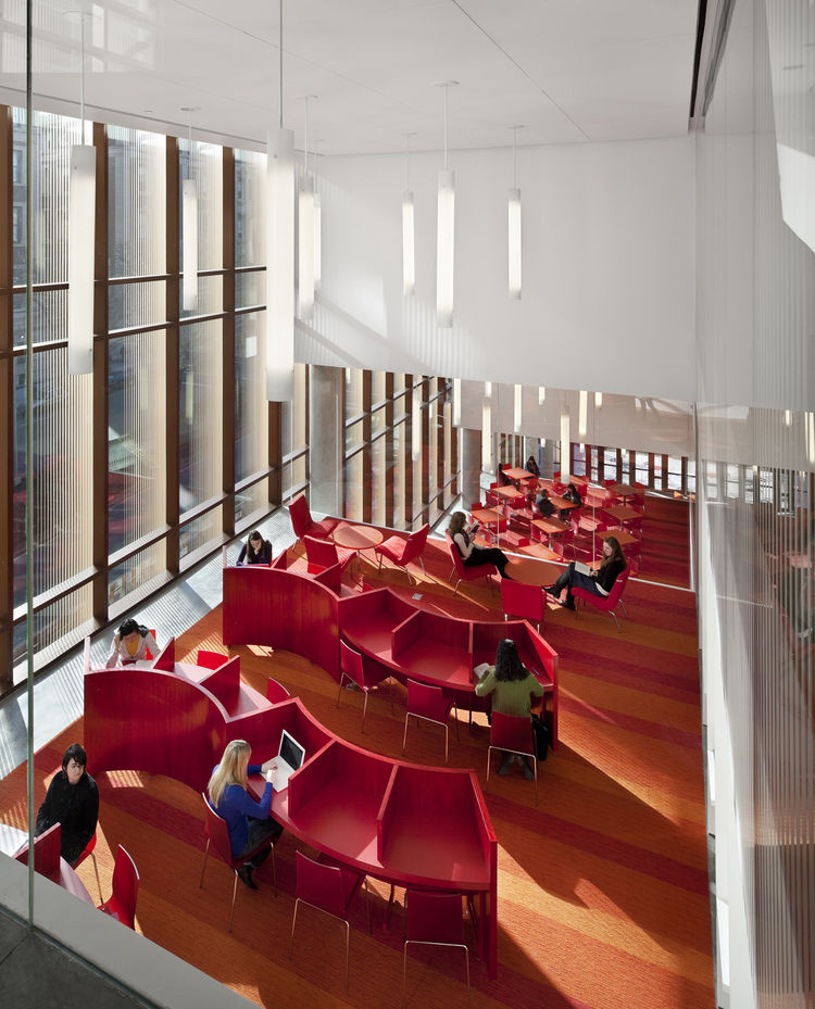 "The Barnard College Diana Center in New York City. Designed by Weiss/Manfredi Architecture/Landscape/Urbanism. Winner of the 2011 Institute Honor Award for Architecture. Project description: ""The 98,000-square-foot multi-use building establishes an innova"