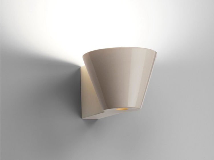 "Also by Barber Osgerby and on display at the fair is the new Beaker Wall Lights for <a href=""http://www.flos.com"">Flos</a>."