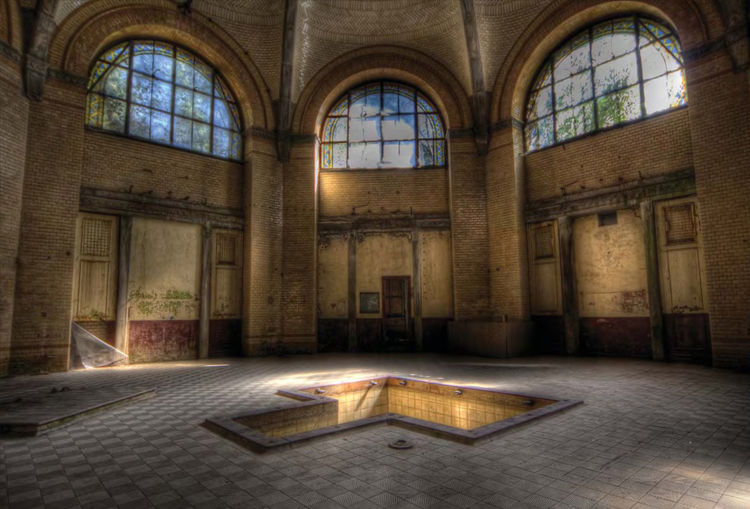 <i>Bath House</i> photographed in a hospital in Germany by James Farmer.
