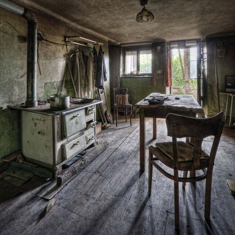 "<i>Old Kitchen</i> photographed in Luxembourg by Jean-Claud ""Shantideva"" Berens."