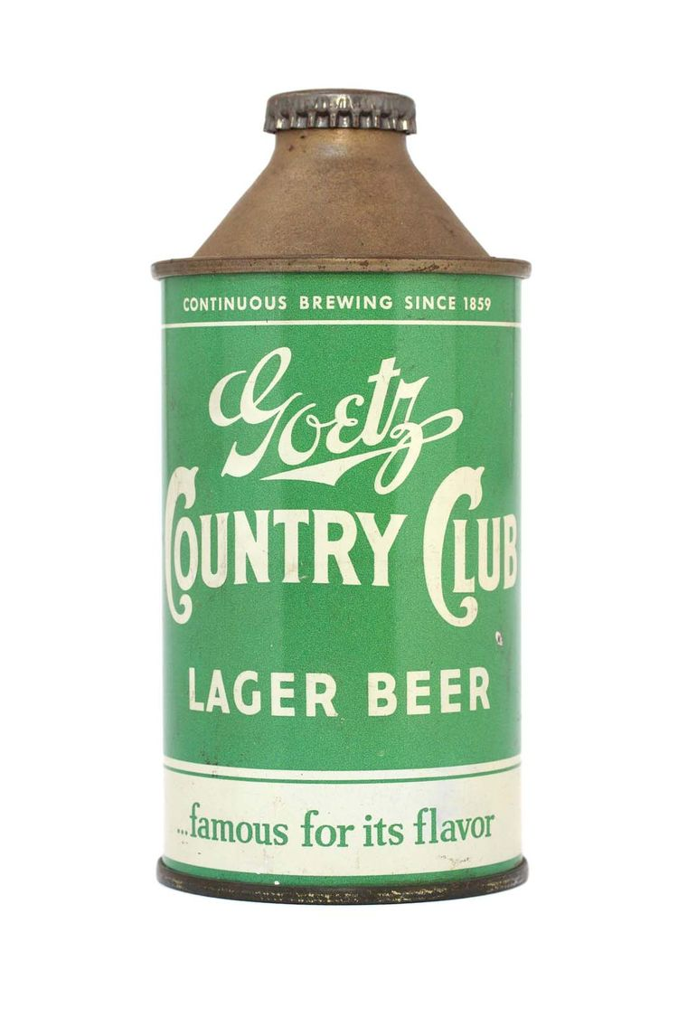 M. K. Goetz Brewing Co.'s Country Club lager, made in St. Joseph, Missouri, in the 1940s and 1950s.