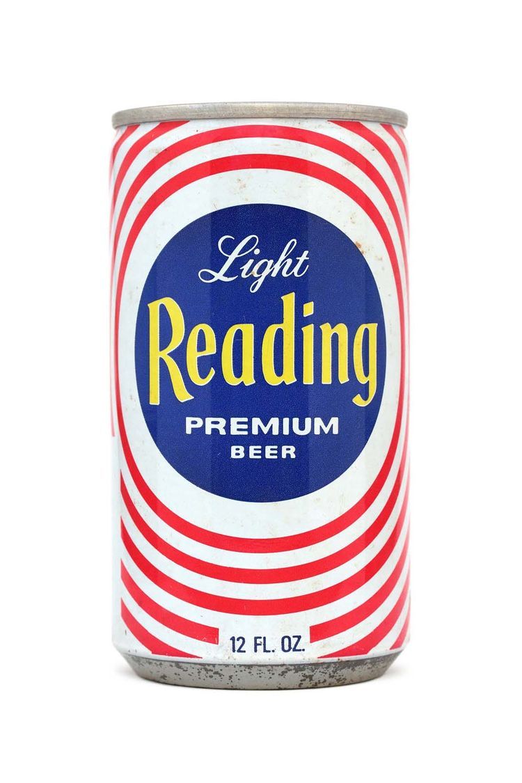 A can of Reading Brewing Co.'s light beer from Philadelphia dating to the 1970s.